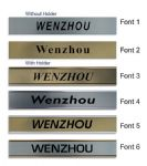 Wenzhou Clock Name Plate |World Time Zone City Wall clocks Sign custom Plaque
